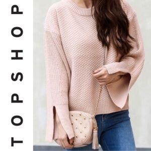 Topshop Moss Stitch Boxy Split Sleeve Sweater 4